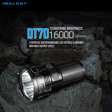 New Arrival IMALENT DT70 16000 Lumens USB Rechargeable LED Tactical Flashlight with Multi-level Output and OLED Display