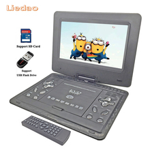 Liedao 13.9inch Portable DVD Player Rechargerable Battery Game Player Radio Portable Analogue TV AV SD / MS / MMC Card Reader