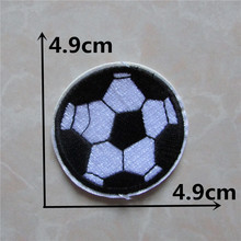Cheap High quality 50PCS soccer ball patches stripes Clothing accessories Embroidery Applique Decoration Accessories Hotfix C212