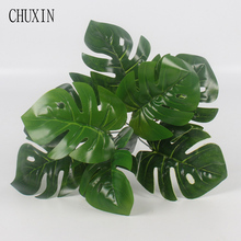 1 Bouquet Mexican Autumn Decoration Artificial Plants Green Turtle Leaves Garden Home decor artificial grass plant(China)