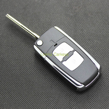 LinHui for HYUNDAI ELANTRA Key Case 2 Buttons Uncut Blank Cooper Blade Car Flip Key ABS Shell 1 PC With Logo