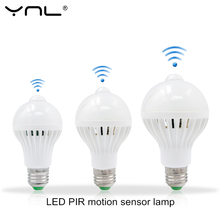 Buy Intelligent LED smart Light E27 220V 5W 7W 9W 110V PIR Motion Sensor Light LED Bulb Lampada Auto Infrared Body motion sensor for $1.09 in AliExpress store