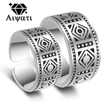 Fashion Jewelry Thailand Silver Vintage Rings 925 2017 Wedding Engagement Couple Rings