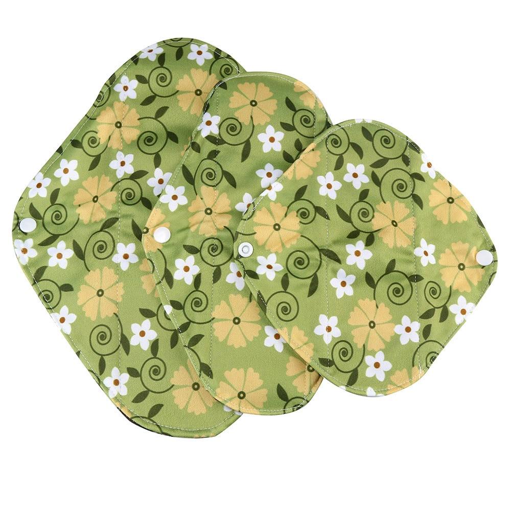 1pc New Arrival Women's Reusable Bamboo Cloth Washable Menstrual Pad Mama Sanitary Towel Pad Pretty Feminine Hygiene Product 19