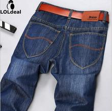 New jeans men new Fashion trousers straight slim mid waist popular men's jeans Plus size 28-38(China)