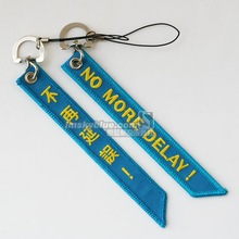 "Pilot Blue Luggage bag Tag with "" No More Delay"" Best Gift for Pilot Aviation Lover Flight Crew Ariman(China)"