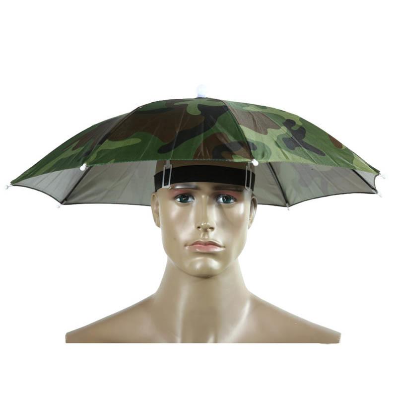 VILEAD-Portable-Head-Umbrella-Hat-Sun-Shade-Rainbow-Rain-Umbrella-Hat-for-Camping-Fishing-Hiking-Outdoor