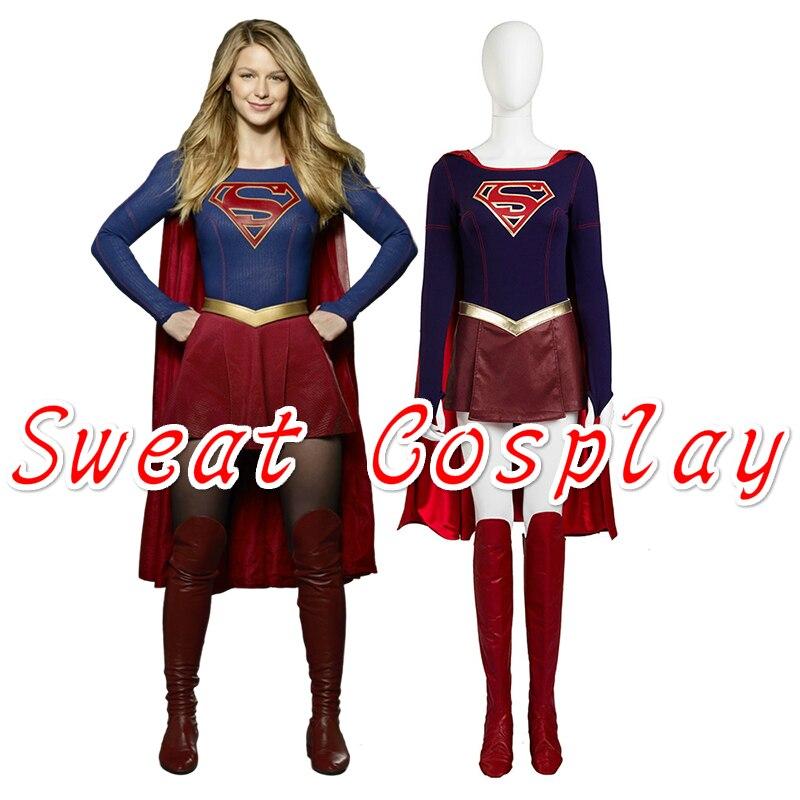 Supply Cbs Supergirl Cosplay Costume Kara Zor-el Danvers Costume Costumes & Accessories Cape Halloween Carnival Cosplay Costumes