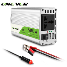Onever 500W Car Power Inverter 12v 220v 50Hz Auto Inverter 12 220 500W/1000W(Peak) with 2 USB Charger Ports Display Adapter(China)
