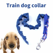 Pet Dog Command Pinch Collar Leash Training Pets Prong Anti-Choke Blue Plastic Cachorro(China)