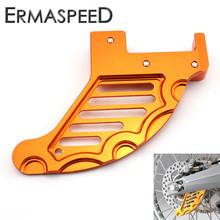 Orange Motorcycle CNC Aluminum Rear Brake Disc Guard Protector Cover Modified Accessory for KTM 125 144 150 200 250 300 450 EXC(China)