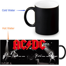AC&DC Magic Mug Custom Photo Heat Color Changing Morph Mug 350ml/12oz Coffee Mug Beer Milk Mug Halloween Gift