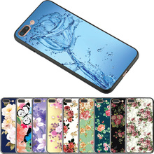 Buy Flowers TPU edge+Hard PC Back Cover Case Apple iPhone 8 Plus 7 6S Cases iPhone X Phone Shell Pattern Cute Floral Cover for $1.32 in AliExpress store