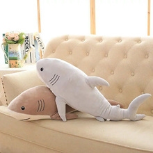 "Plush Ocean Cartoon Shark Toys Soft Cute Pillow Super Soft Stuffed Animal Shark Dolls Best Gifts for Kids Friend Baby 21""(China)"