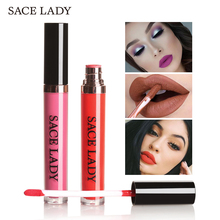 SACE LADY Matte Liquid Lipstick Waterproof Makeup Long Lasting Sexy Lip Gloss 22 Colors Make Up Red Velvet Paint Nude Cosmetic(China)