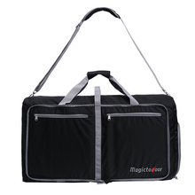 Magictodoor 85L Foldable Travel Duffel Bag Lightweight Carry-on Luggage Shoes Compartment Memory Foam Shoulder Pad
