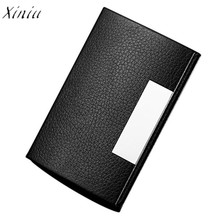 Women Men Credit Card Holder Personalized Leatherette Stainless Steel Business Card Case Travel Card Holder Wallet For Women Men(China)