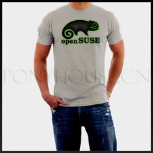 Open Source Suse Linux t-shirt Top Lycra Cotton Men T Shirt Design High Quality Digital Inkjet Printing