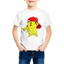 Buy Pokemon Pikachu T Shirt Boy/Girl T-shirts 3D Fashion Children's Summer Casual Tees Tops Anime Cartoon Clothing C20-24 for $4.89 in AliExpress store