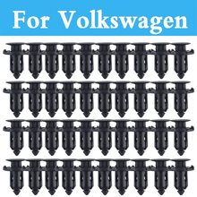 50pcs 9mm Plastic Screw Rivet Push Fit Panel Trim Clips For Volkswagen Golf Gti Golf Plus Golf R Beetle Bora Eos Fox