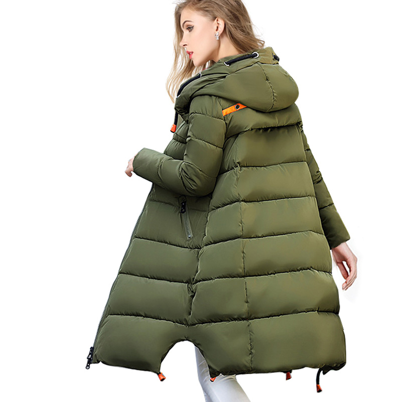 Wholesale Winter Jackets Womens Fashion 2017 Long Paragraph Knee Down Cotton-padded Slim Jacket Hooded Zipper Outerwear CoatsОдежда и ак�е��уары<br><br><br>Aliexpress