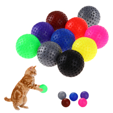 10pcs Plastic Pet Cat Toys With Small Bell Colorful Ball Chew Squeaky Toy Ball Training Pet Supplies Kitten Cat Exrecise Toy(China)