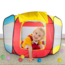 Baby Children Tent Play House Indoor and Outdoor Easy Folding Ball Pit Hideaway Tent Play Hut Garden Playhouse Kids Tent