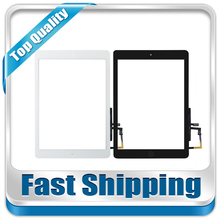 For New iPad Air iPad 5 Gen Replacement Touch Screen +Home Button + Flex Cable + Camera Holder Black White Free Shipping