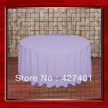 "Hot Sale 132"" R Lilac Round Table Cloth Polyester Plain Table Cover for Wedding Events &Party Decoration(Supplier)(China)"