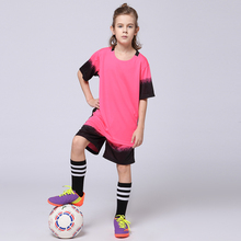 2017 Blank Football Jersey+Shorts Sets Boys and Girls Customized Football Team Uniforms Training Suits Youth Kids Soccer Jerseys