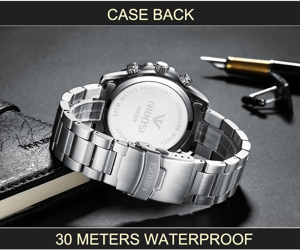 Military Watches Men Quartz Analog Men Watches Stainless Steel Time Date Clock Men Luxury Brand Hot Famous Brand Watches NIBOSI  (5)