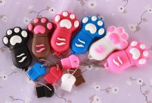 real capacity Cat paw usb flash drives 4GB  8GB 16GB USB 2.0 Flash Memory Stick Drive Thum/Car/Pen U Disk Festival no chain.
