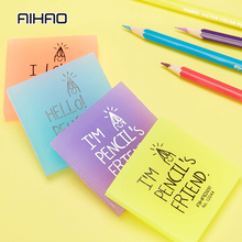 AIHAO Kawaii square Jelly color The eraser Student Stationery Red  Yellow Blue Purple Multicolor optional Free Shipping