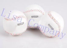 2017 hot sale new white PU diameter 8cm hand sewing non-soft solid softball practice training softball balls sports team game(China)