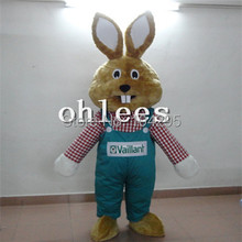 Ohlees in store fat rabbit bunny  Mascot Costume Halloween Christmas Birthday Props Costumes For Adult cartoon animal customize