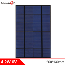 ELEGEEK 4.2W 6V 200*130mm DIY Solar Cell Panel Polycrystalline PET + EVA Laminated Mini Solar Panel for Test and Education