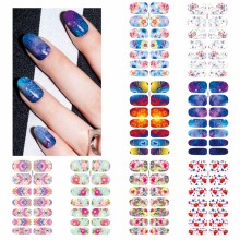 ZKO 1 Sheet Flower Mystery Galaxies Designs Nail Art Stickers Beauty Water Decal Decorations Sticker Tools Nails Accessories