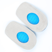 Silicone Gel feet Cushion Foot Heel Elastic Care Half Insole Shoe Pad With Cloth Anti-fatigue