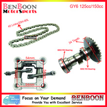 GY6 150cc Timing Chain Camshaft and Camshaft Holder 157QMJ Engine Chinese Scooter Parts ATV Parts Roketa Baotian Free Shipping(China)
