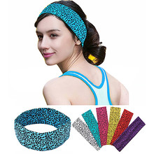 Girls Women Cotton Headband Leopard Pattern Personality Girls Sports Yoga Headbands Lady Hair Band Hair Accessories
