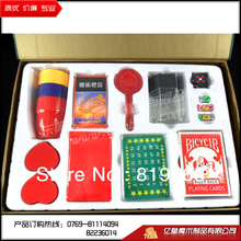 2013 Hot!magic set(include eight kinds of magic props),close up coin stage street magic tricks/gimmicks,free shipping