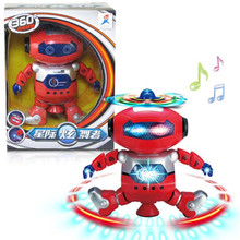 High Quality Fashion Electronic Walking Dancing Smart Space Robot Astronaut Kids Music Light Toys Free Shipping
