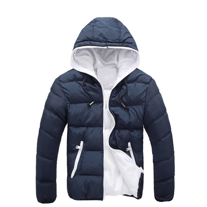 Mens Slim Casual Warm Jacket Hooded Winter Thick Coat Parka Overcoat HoodieОдежда и ак�е��уары<br><br><br>Aliexpress