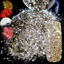 Pure Champagne Mix Makeup Glitter Nail Art Design DIY Glitter Deffierent Size Pink Red Manicure 3D Powder Pentagon Sequins