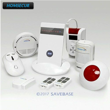 HOMSECUR Wireless GSM SMS Autodial Home Security Fire Alarm System+ Flash Siren