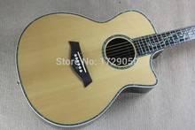 Chinese wholesale Top Solid Spruce Wood Koa Back Ebony Fret-board Real Abalone Inlay 916 Acoustic Guitar Factory direct(China)