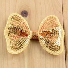 32 COLOR butterfly pattern sparkly sequin bows applique and neon hair bows DIY for headbands SILVER LIME NAVY GOLD 20pcs/lot