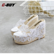 Women Wedges Sandals Summer Shoes Thick Bottom Platform Flip Flops Flower Wedge Heel Shoes Patchwork Woman Summer Sandals  z5