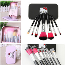 2 Set Hello Kitty Makeup Brushes Sets Professional Cosmetic Brushes Foundation Powder Eyeshadow Lip Brush Beauty Makeup Tool