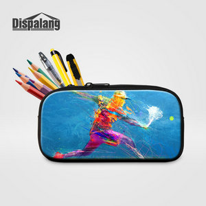 Dispalang 3D Printing Caroms Fashion Women Cosmetic Case Lady Makeup Bag Boys Pencil Case Children Personality Pencil Box Supply